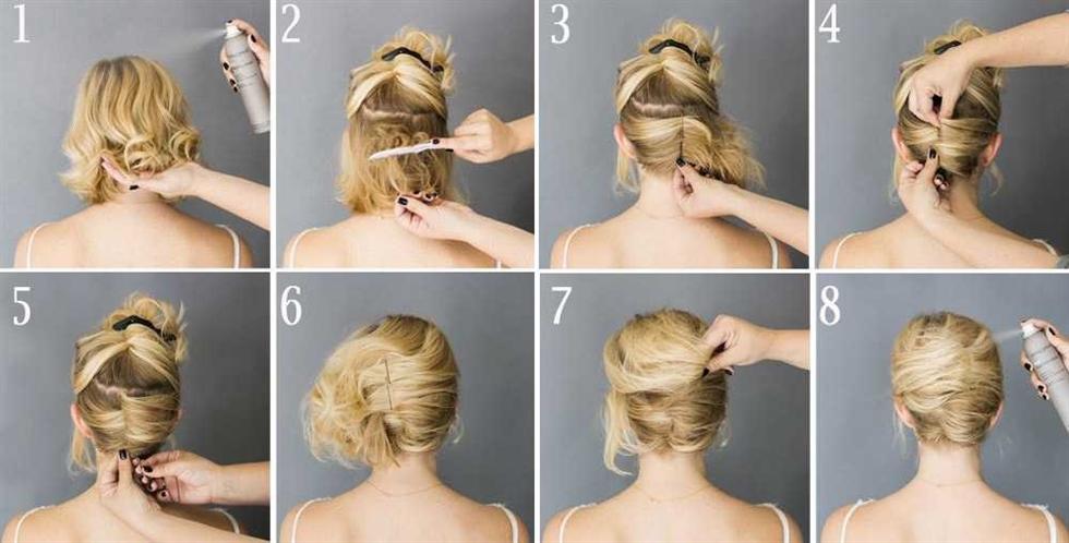 DIY Tutorial fur Mittellange Haare Elegant Damen