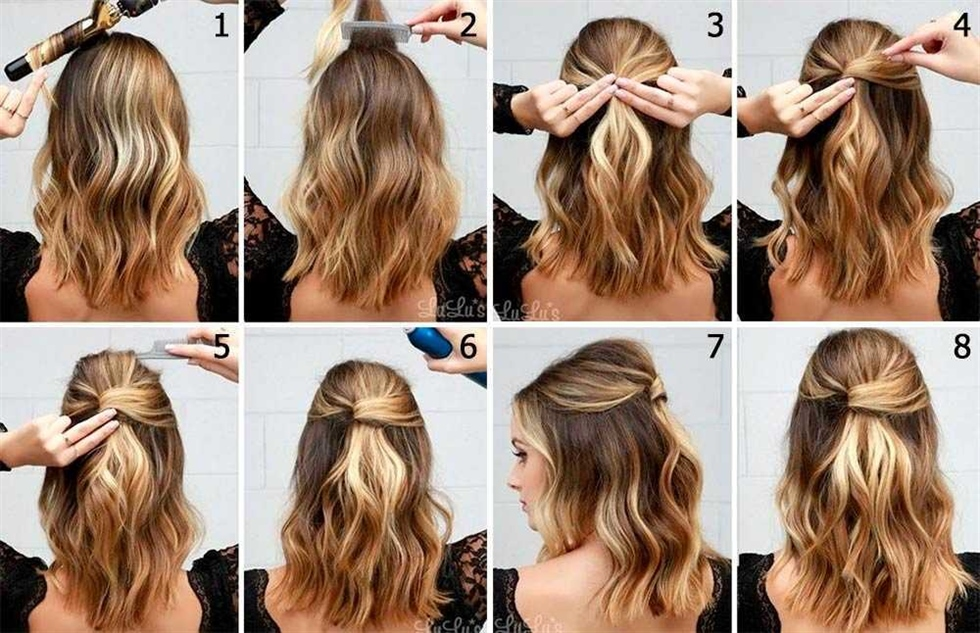 DIY elegante Frisur der kurzen Haare