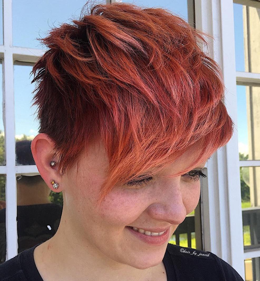 flammendes Haar pixie frisuren