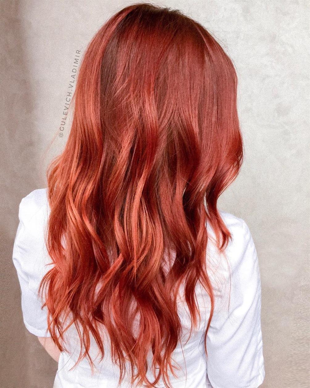 Frisuren 2021 Haarfarben Rote