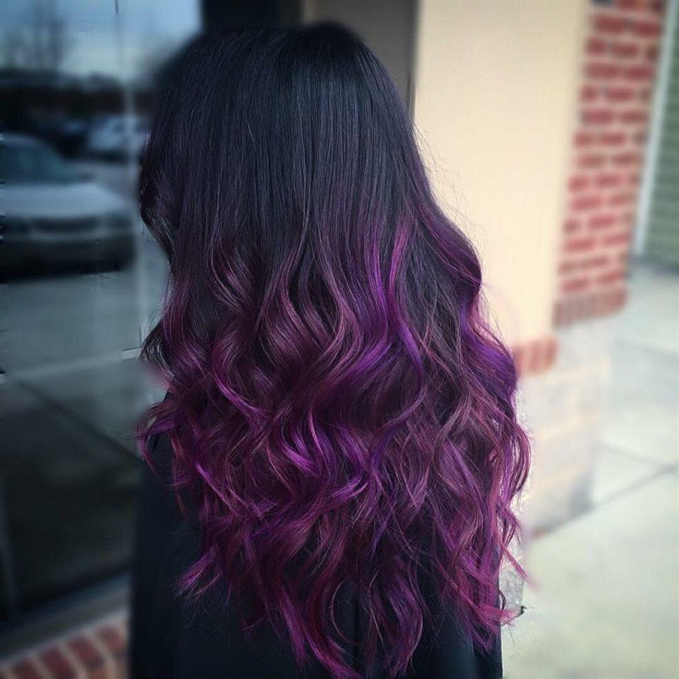 Haarfarben Dunkel Lila