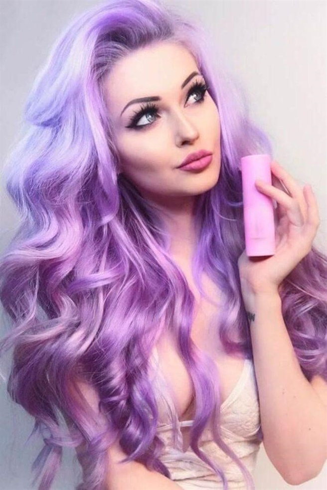 Haarfarben Lila Grau