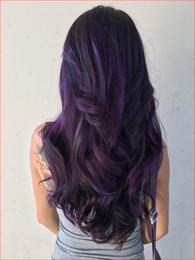 Haarfarben Lila fur Lange Haare