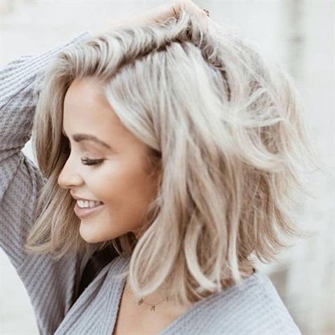 Frisuren Halblang Blond