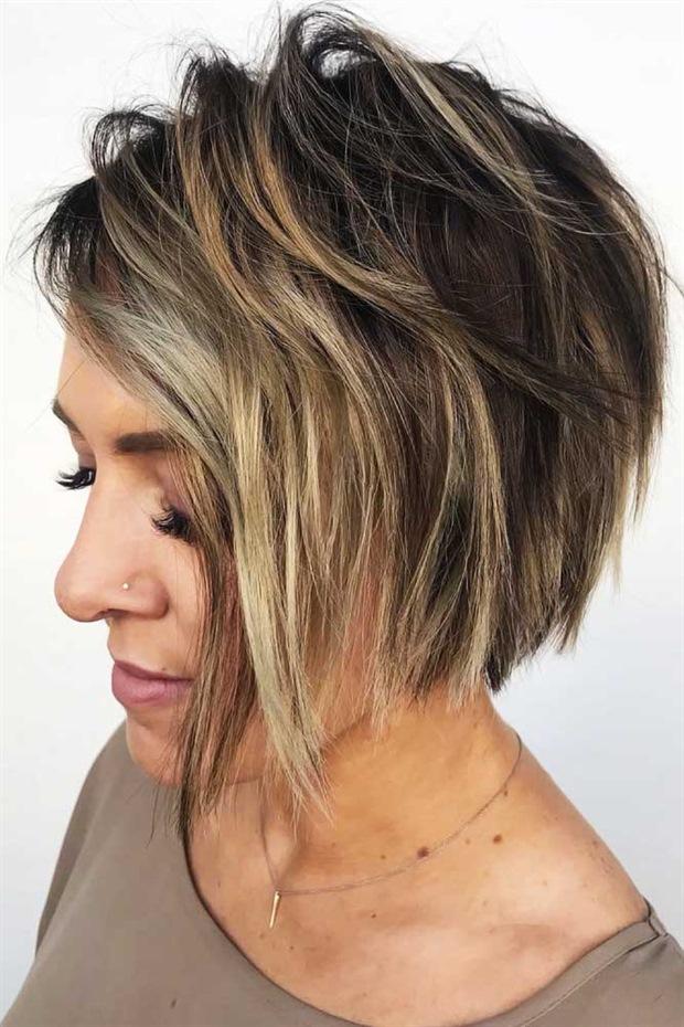 Welliges Kurzhaarfrisuren fur Dunnes Haar