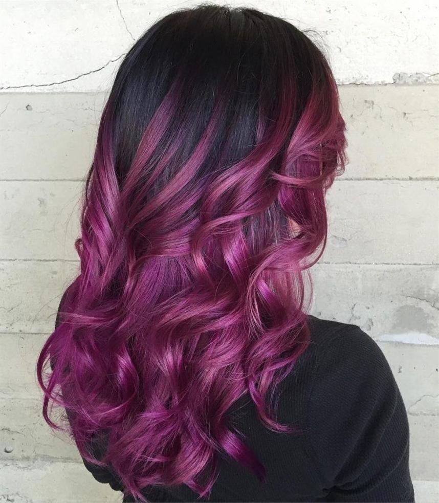 Bunte Haarfarben Lila