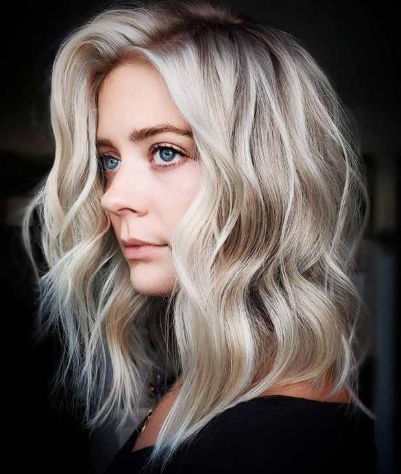Moderne Frisuren Frauen fur Mittellang